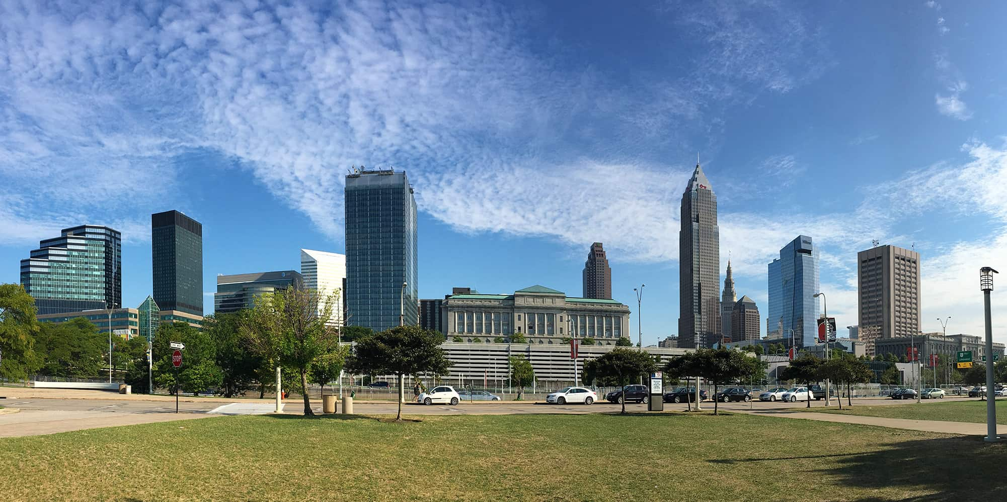 Scenic City Skyline View of Cleveland